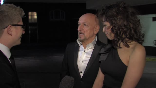 sir ben kingsley and daniela lavender at the game british academy video games awards 2011 at london england - ben kingsley stock videos & royalty-free footage