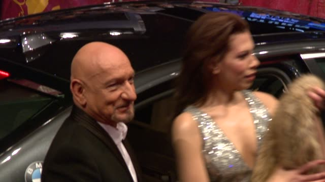 sir ben kingsley and wife daniela lavenda at the shutter island premiere 60th berlin film festival at berlin - ben kingsley stock videos & royalty-free footage