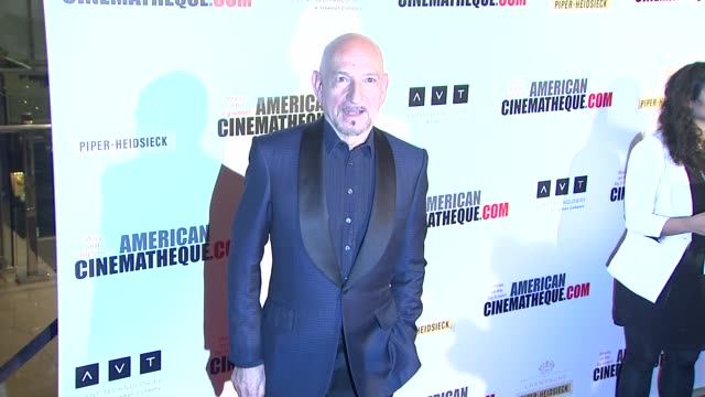 sir ben kingsley at american cinematheque's 27th annual award presentation honoring jerry bruckheimer in beverly hills ca on - american cinematheque stock videos & royalty-free footage