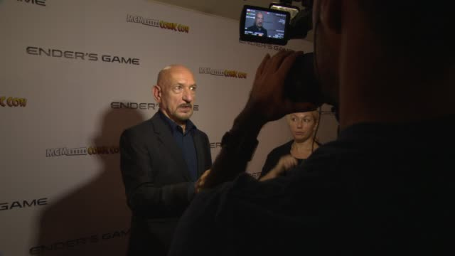 sir ben kingsley at ender's game fan event at odeon leicester square on october 07 2013 in london england - ben kingsley stock videos and b-roll footage