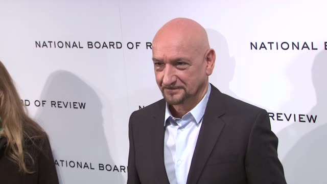 sir ben kingsley at national board of review awards gala red carpet at cipriani 42nd street on 1/10/2012 in new york city ny - ben kingsley stock videos and b-roll footage