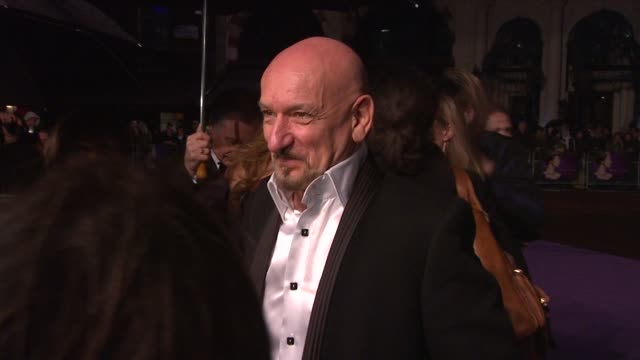 sir ben kingsley at the the young victoria world premiere at london - ben kingsley stock videos and b-roll footage
