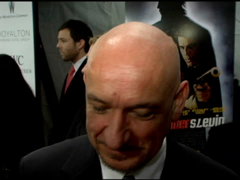 sir ben kingsley discussing working with morgan freeman and josh hartnett what it was like shooting in nyc bonding behind the scenes with the other... - ben kingsley stock videos and b-roll footage