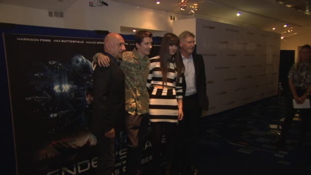 sir ben kingsley harrison ford asa butterfield hailee steinfeld gavin hood at ender's game fan event at odeon leicester square on october 07 2013 in... - gavin hood stock videos and b-roll footage