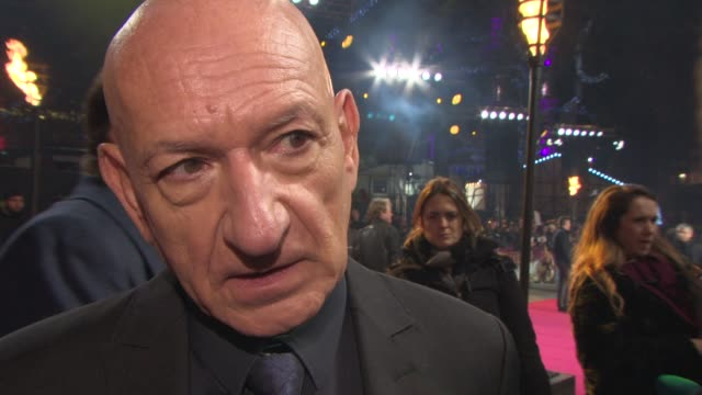 interview sir ben kingsley on faith working with christian bale the concontroversy around the film at 'exodus gods and kings' premiere at odeon... - ben kingsley stock videos & royalty-free footage
