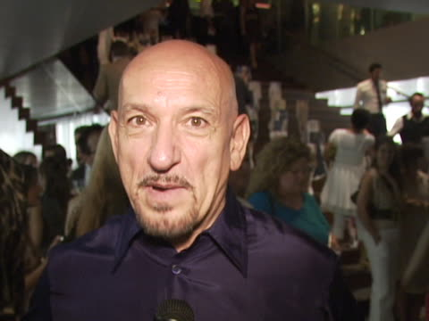 Sir Ben Kingsley on his lucky Prada suit that he wears to award shows and how he believes it always brings him good luck at the Prada Celebrates The...