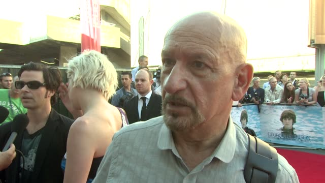 sir ben kingsley on the effect the beatles had on him at the george harrison living in the material world uk premiere at london england - ben kingsley stock videos & royalty-free footage