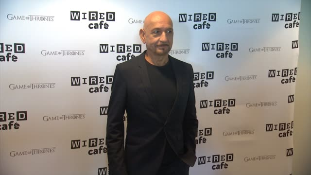 sir ben kingsley wired cafe @ comiccon day 2 at omni hotel on july 25 2014 in san diego california - ben kingsley stock videos & royalty-free footage