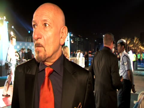 sir ben kingsley's reasons for being at the festival, on producing his own films, on his hopes for the regions artistic future at the doha tribeca... - day 1 stock videos & royalty-free footage
