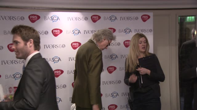 sir bob and pixie geldof at the ivor novello awards 2015 - bob geldof stock videos & royalty-free footage