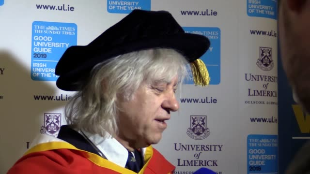 stockvideo's en b-roll-footage met sir bob geldof has slammed the british government as incapable and inept and said that brexit will be a disaster the prominent remain campaigner also... - bob geldof