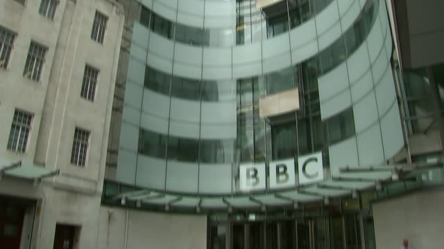 sir cliff richard critical of bbc and police over sex abuse claims london broadcasting house - bbc stock videos and b-roll footage