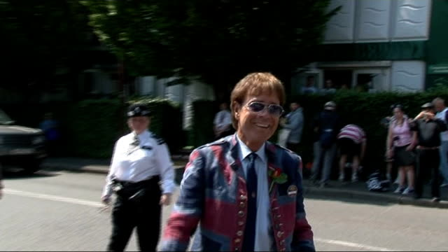 sir cliff richard historic sex offence allegation police say a number of people have come forward with information r07071313 / 772013 wimbledon sir... - number 7 stock videos & royalty-free footage