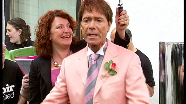 sir cliff richard opens housing for people with learning difficulties in new barnet **music heard sot** sir cliff richard looking on / members of... - cliff richard stock videos and b-roll footage