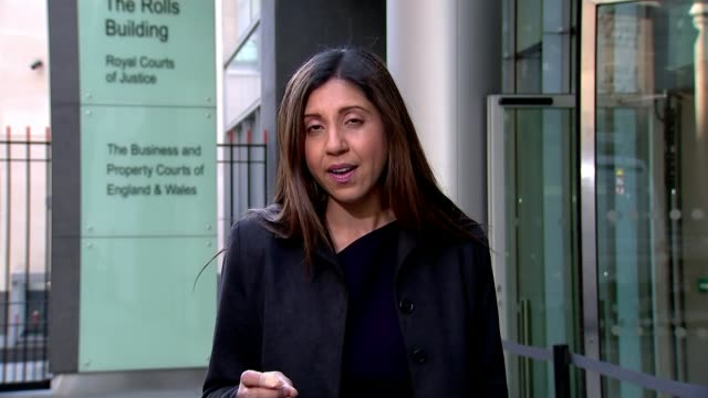 BBC reporter gives evidence ENGLAND London EXT Reporter to camera SOT