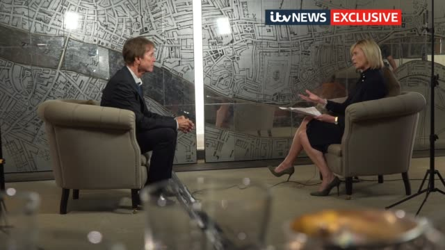 sir cliff richard wins damages against the bbc in judgement that has implications for media reporting ****itv london int sir cliff richard interview... - itv news at ten stock-videos und b-roll-filmmaterial