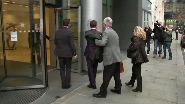 sir cliff richard's privacy case against the bbc begins: cliff richard arrival at court; england: london: high court: ext sir cliff richard out of... - gloria hunniford stock-videos und b-roll-filmmaterial