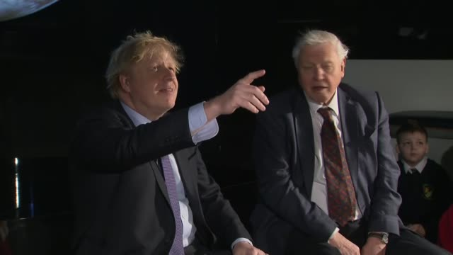 sir david attenborough, boris johnson and giuseppe conti speeches at cop26 launch event cutaways; england: london: south kensington: science museum:... - climate stock videos & royalty-free footage