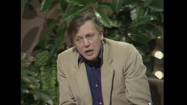 sir david attenborough talks about the evolution of man through 'culture' and 'knowledge' - author stock videos & royalty-free footage