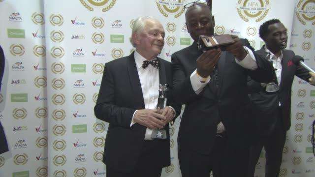 sir david jason at national film awards at porchester hall on march 29, 2017 in london, england. - ポーチェスター点の映像素材/bロール