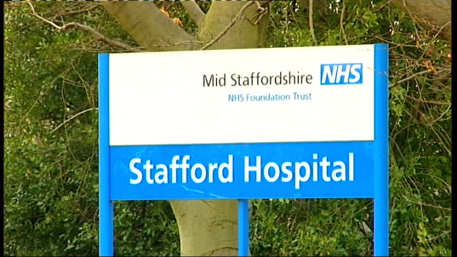 sir david nicholson retires / mps debate strain on accident and emergency departments staffordshire gvs stafford hospital - stafford england stock videos and b-roll footage