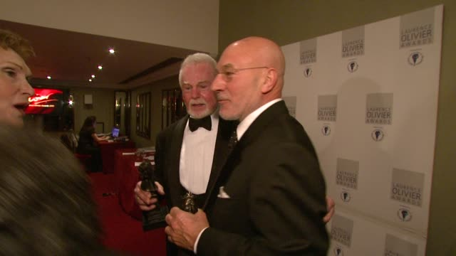 Sir Derek Jacobi and Patrick Stewart at the Laurence Olivier Awards 2009 at London