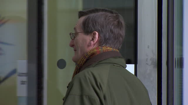 sir dominic grieve entering bbc broadcasting house - door stock videos & royalty-free footage