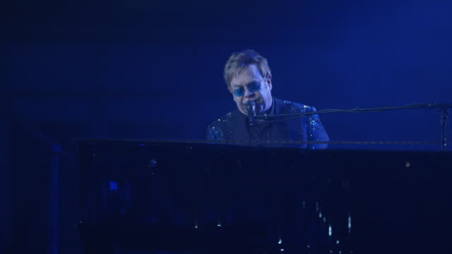 PERFORMANCE Sir Elton John at Battersea Power Station Annual Party at Battersea Power station on April 30 2014 in London England