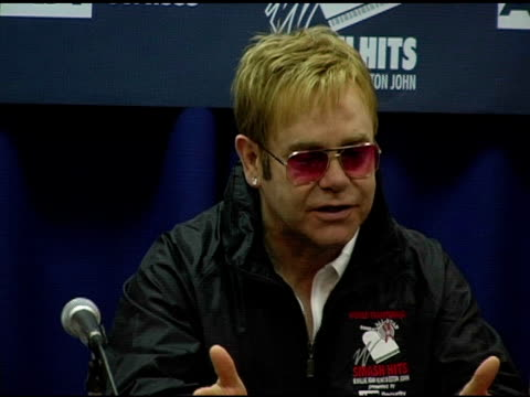 Sir Elton John at the 12th Annual World Team Tennis Smash Hits Benefiting the Elton John AIDS Foundation at Bren Events Center in Irvine California...