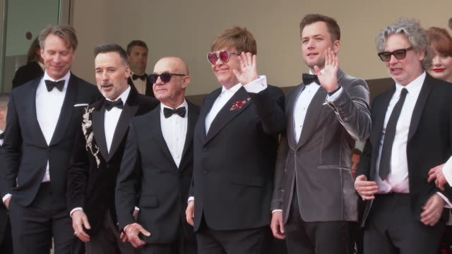 Sir Elton John Taron Egerton on May 16 2019 in Cannes France