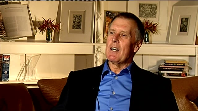sir geoff hurst interview; hurst interview sot - talks about how he will receive presentation from germans on pitch before match / looking forward to... - final round stock videos & royalty-free footage
