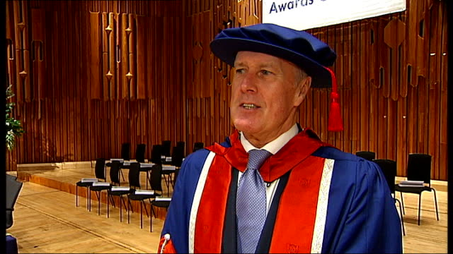 Sir Geoff Hurst receives honorary degree from University of East London interview and photocall ENGLAND London INT Sir Geoff Hurst walking along...