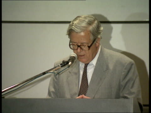 01 sir geoffrey howe's speech to hong kong legislative council sof - human joint stock videos & royalty-free footage