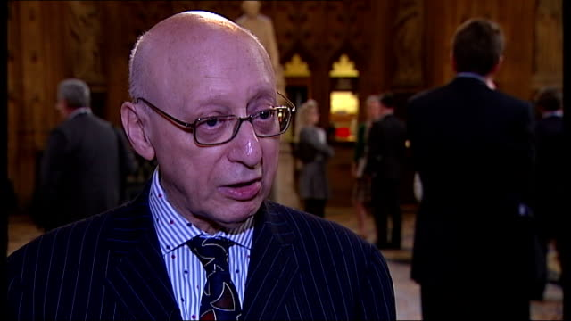 sir gerald kaufman receives letter from downing street signed by non-existent person; sir gerald kaufman mp interview sot - gerald kaufman stock videos & royalty-free footage