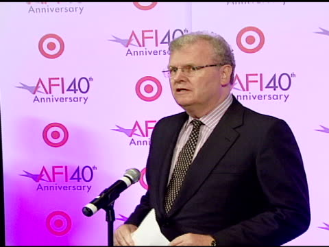 sir howard stringer, billy crystal, warren beatty, and julie andrews at the target presents afi's 40th anniversary at arclight cinemas in hollywood,... - warren beatty stock videos & royalty-free footage