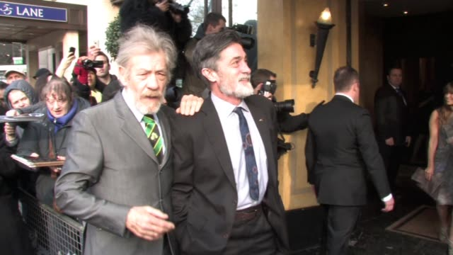 sir ian mckellen and guest at the the south bank show awards at london england. - ian mckellen stock videos & royalty-free footage