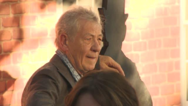 sir ian mckellen at mr holmes uk film premiere at odeon kensington on june 10 2015 in london england - ian mckellen stock videos and b-roll footage