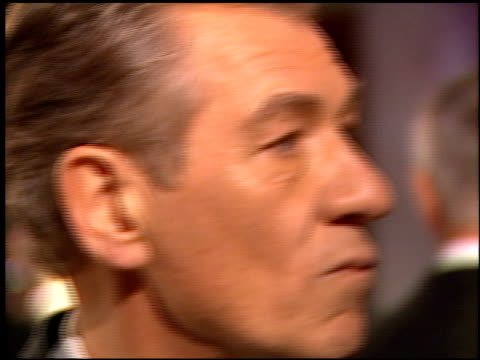 sir ian mckellen at the 1999 academy awards vanity fair party at morton's in west hollywood california on march 21 1999 - ian mckellen stock videos and b-roll footage