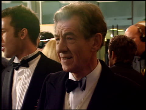 sir ian mckellen at the 1999 golden globe awards at the beverly hilton in beverly hills california on january 24 1999 - ian mckellen stock videos and b-roll footage