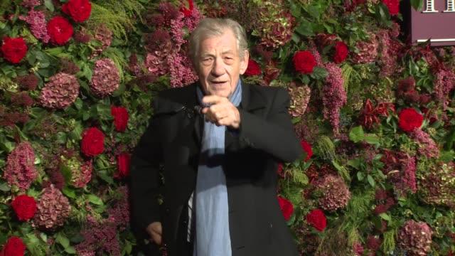 sir ian mckellen at theatre royal on november 18, 2018 in london, england. - ian mckellen stock videos & royalty-free footage