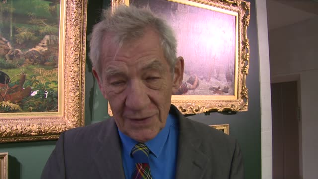 interview sir ian mckellen on getting the award current filming schedule the future and sherlock holmes at freedom of the city of london on 30th... - ian mckellen stock videos and b-roll footage