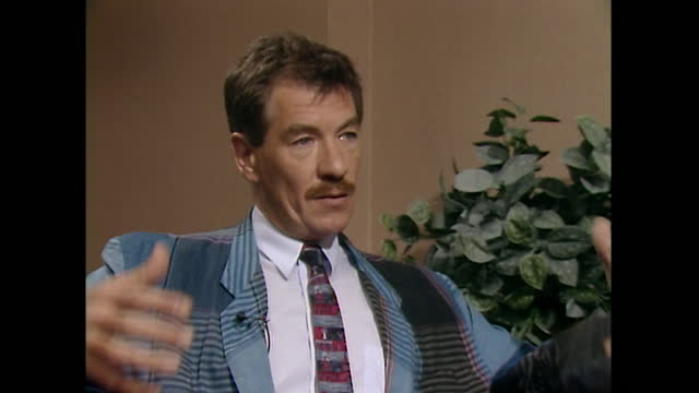 sir ian mckellen talks in a 1989 interview about coming out publicly and to his family as gay, saying 'i'm fifty... if i can't be honest with myself... - industrial equipment stock videos & royalty-free footage