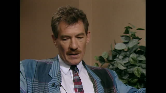 sir ian mckellen talks in a 1989 interview about funding for the arts in the uk and how public subsidy must be 'at the right level' in order to... - individuality stock videos & royalty-free footage