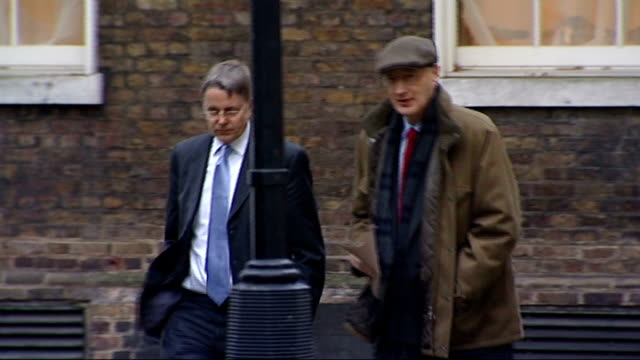 sir jeremy heywood and sir george young at number ten; england: london: westminster: downing street: ext sir jeremy heywood along with sir george... - jeremy heywood stock videos & royalty-free footage