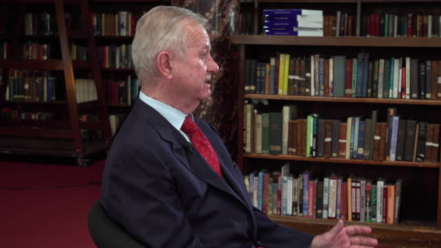 sir john chilcot saying that in theory the un general assembly could commission the international court of justice to try tony blair over the iraq war - international court of justice stock videos and b-roll footage