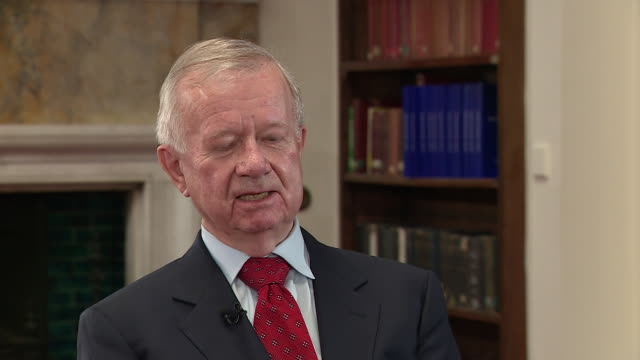 """sir john chilcot saying tony blair's 'we will be with you whatever' letter to george bush """"was giving away far too much"""" - weapons of mass destruction stock videos & royalty-free footage"""