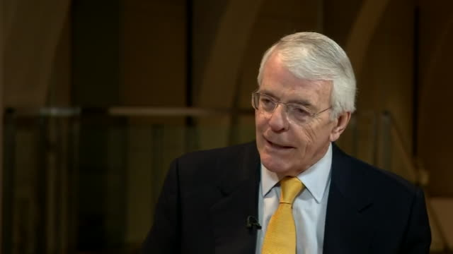 sir john major states that it is 'not real' that remainers should keep silent over the eu referendum results - artificial stock videos & royalty-free footage