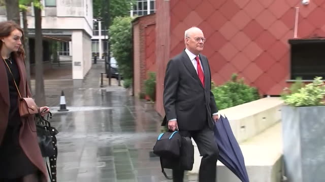 sir john saunders who is chairing the public inquiry into the manchester arena terrorist attack arrives at court in manchester on the first day - chairperson stock videos & royalty-free footage