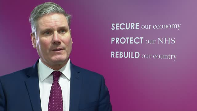 sir keir starmer attacks gavin williamson's handling of schools during the pandemic: starmer interview; england: london: int sir keir starmer mp... - handle stock videos & royalty-free footage