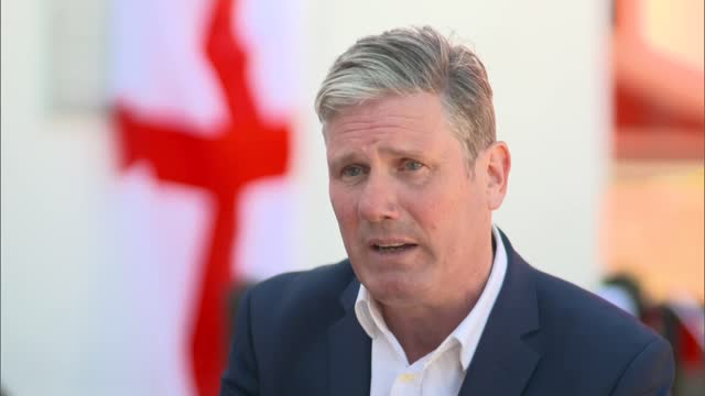 sir keir starmer interview in hartlepool; england: county durham: hartlepool: ext sir keir starmer mp interview sot q: on how labour could be in... - rebuilding stock videos & royalty-free footage